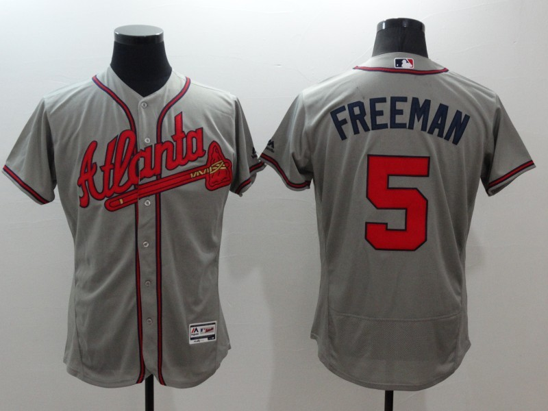 2016 MLB FLEXBASE Atlanta Braves 5 Freeman grey jerseys