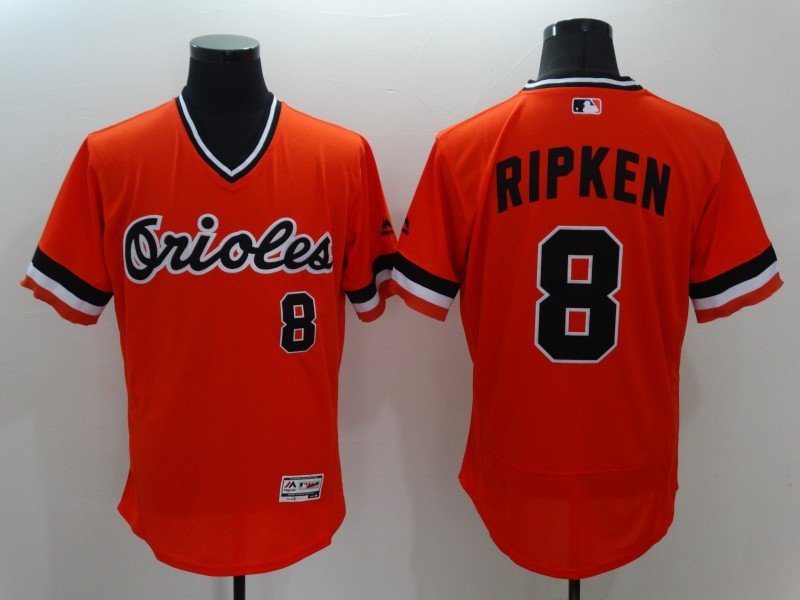 2016 MLB FLEXBASE Baltimore Orioles 8 Cal Ripken Orange Jerseys