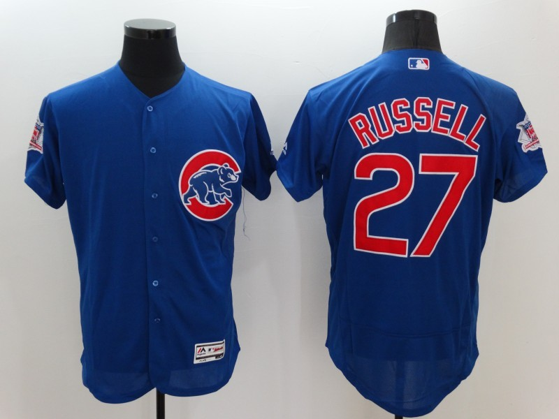 2016 MLB FLEXBASE Chicago Cubs 27 Russell Blue Jerseys