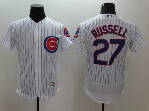 2016 MLB FLEXBASE Chicago Cubs 27 Russell White Jersey