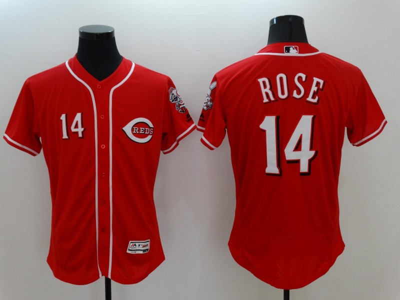 2016 MLB FLEXBASE Cincinnati Reds 14 Rose Red Jerseys