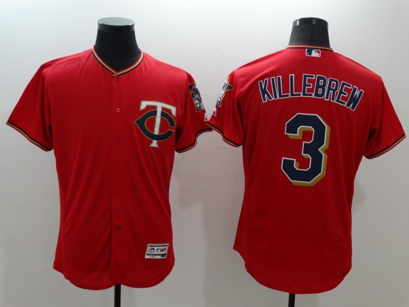 2016 MLB FLEXBASE Minnesota Twins 3 Killebrew red jerseys
