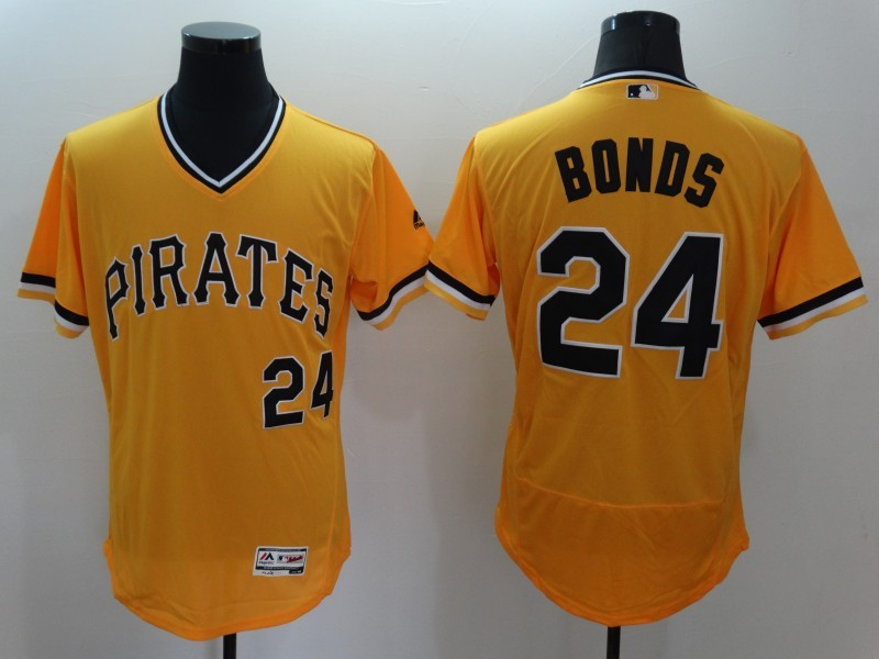 2016 MLB FLEXBASE Pittsburgh Pirates 24 Bonds Orange Jersey