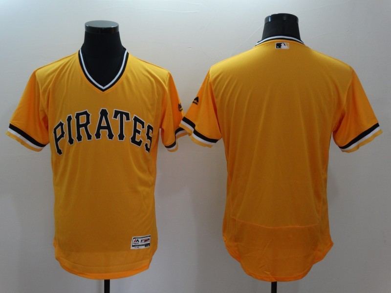 2016 MLB FLEXBASE Pittsburgh Pirates Blank Orange Jersey