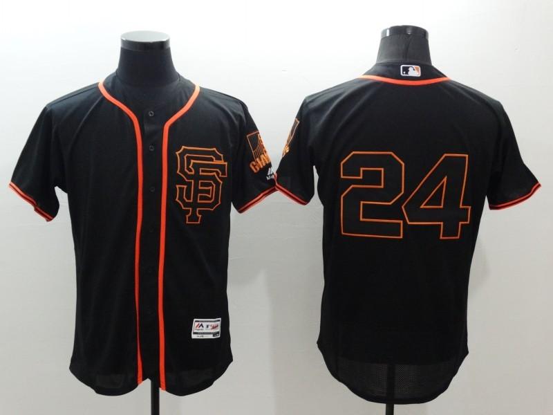 2016 MLB FLEXBASE San Francisco Giants 24 Mays black jerseys
