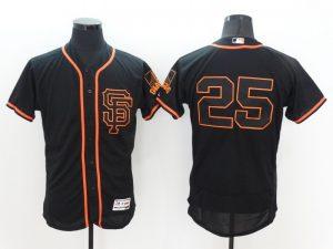 2016 MLB FLEXBASE San Francisco Giants 25 Barry Bonds Black Jersey