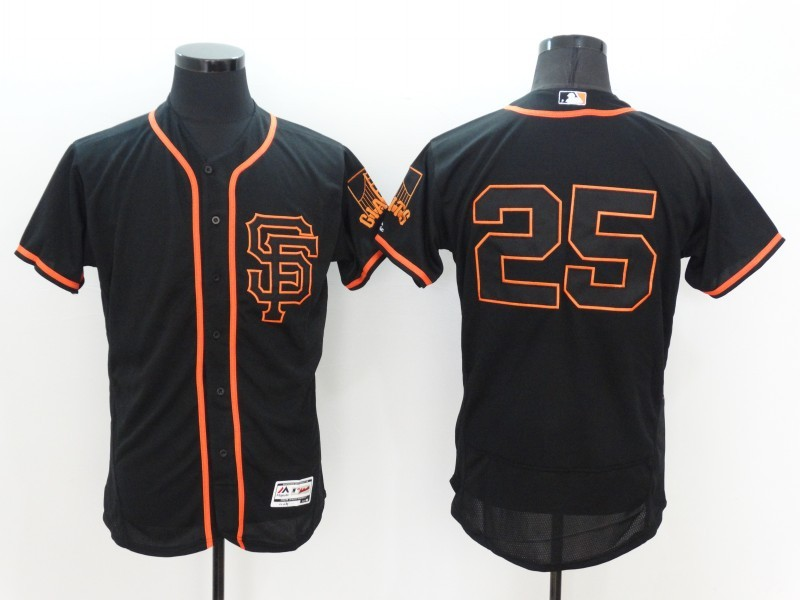 2016 MLB FLEXBASE San Francisco Giants 25 Barry Bonds Black Jersey