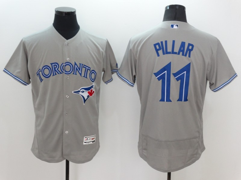 2016 MLB FLEXBASE Toronto Blue Jays 11 Pillar Grey Jersey