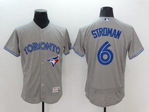 2016 MLB FLEXBASE Toronto Blue Jays 6 Marcus Stroman Grey Jersey