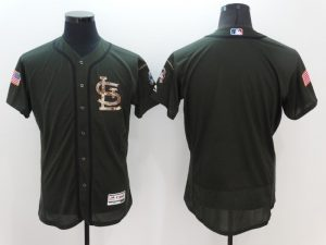 2016 MLB St. Louis Cardinals Blank Green Salute to Service Stitched Baseball Jersey