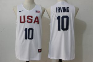 2016 NBA 10 Irving Dream Team USA white jersey