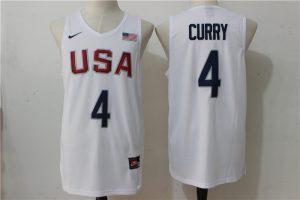 2016 NBA 4 Curry Dream Team USA white jersey