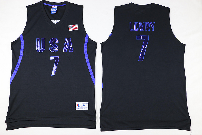 2016 NBA 7 Lowry Dream Team USA Black Jersey