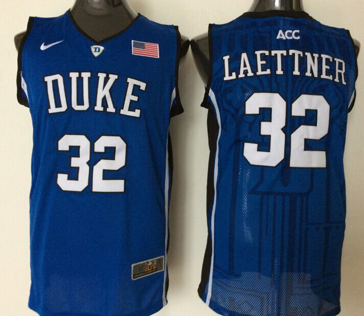 2016 NBA NCAA Duke Blue Devils 32 Laettner Blue Jerseys 1