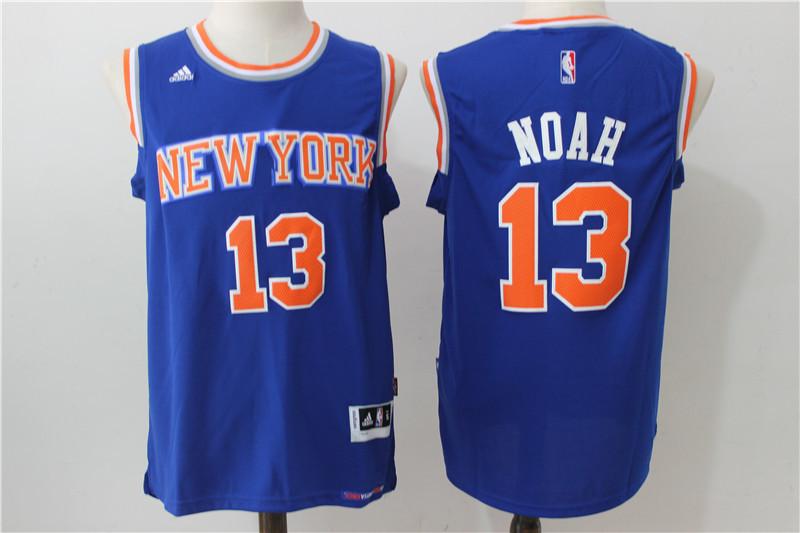 2016 NBA New York Knicks 13 Noah blue jerseys