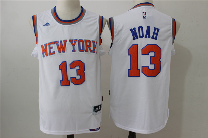 2016 NBA New York Knicks 13 Noah white jerseys