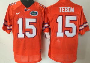 2016 NCAA Florida Gators 15 Tebow Orange Jerseys