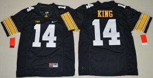 2016 NCAA Iowa Hawkeyes 14 Desmond King Black College Football Jersey