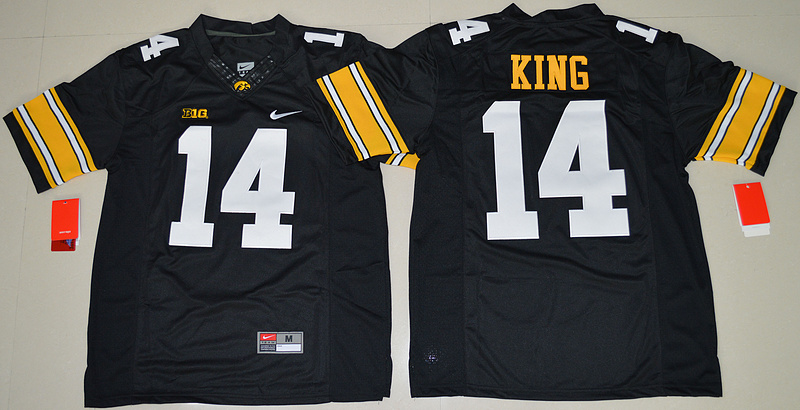 2016 NCAA Iowa Hawkeyes 14 Desmond King Black College Football Jersey