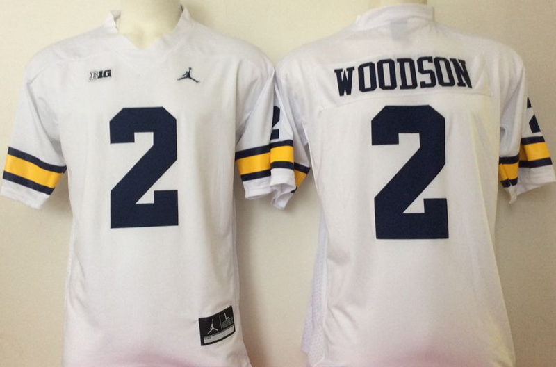 2016 NCAA Michigan Wolverines 2 Woodson White Jerseys