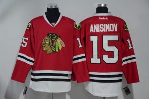 2016 NHL Chicago Blackhawks 15 Anisimov Red Jerseys