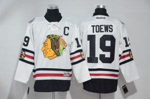 2016 NHL Chicago Blackhawks 19 Toews White Jerseys