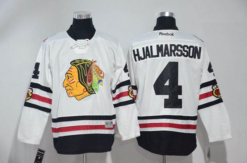2016 NHL Chicago Blackhawks 4 Hjalmarsson White Jerseys