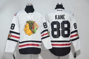 2016 NHL Chicago Blackhawks 88 Kane White Jerseys