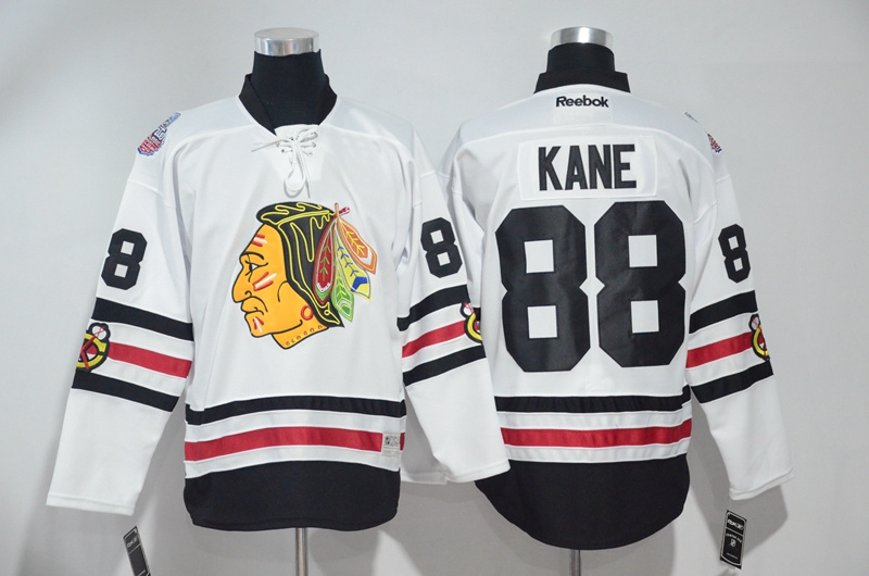 2016 NHL Chicago Blackhawks 88 Kane White Jerseys