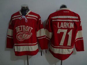2016 NHL Detroit Red Wings 71 Larkin Red Jerseys