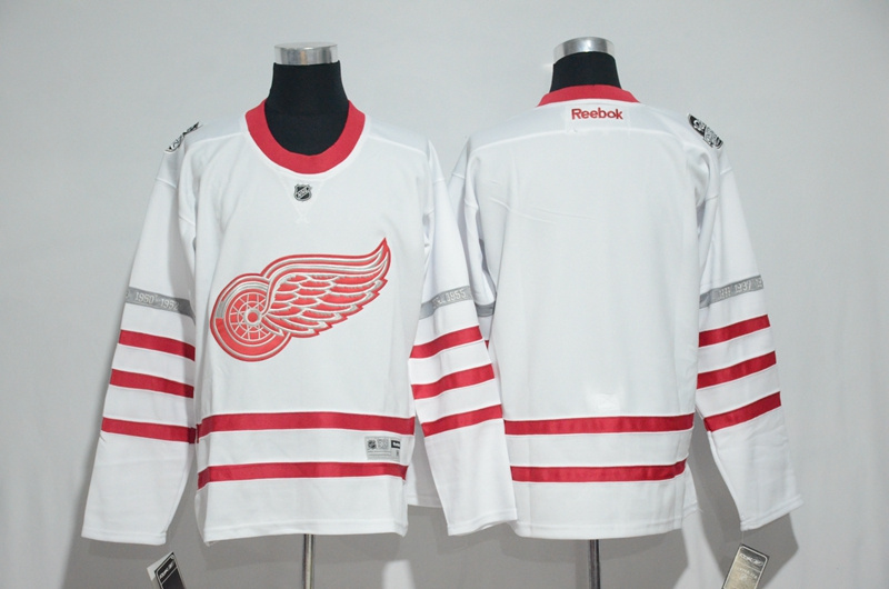 2016 NHL Detroit Red Wings Blank White Jerseys