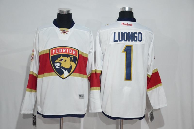 2016 NHL Florida Panthers 1 Roberto Luongo White Jerseys
