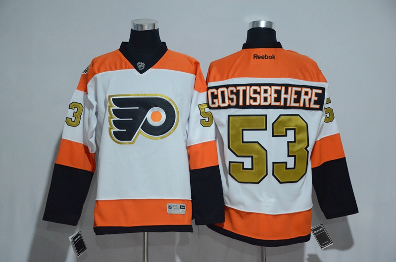 2016 NHL Philadelphia Flyers 3 Shayne Gostisbehere 50th Anniversary White Jerseys