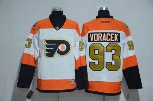 2016 NHL Philadelphia flyers 93 Jakub Voracek 50th Anniversary White Jerseys