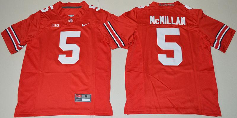 2016 Youth NCAA Ohio State Buckeyes 5 Raekwon McMillan Red College Football Jersey
