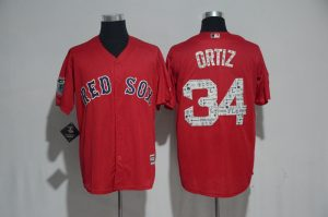 2017 MLB Boston Red Sox 34 Ortiz Red Fashion Edition Jerseys