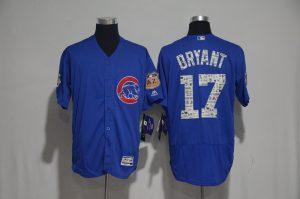 2017 MLB Chicago Cubs 17 Bryant Blue Spring Training Flex Base Jersey