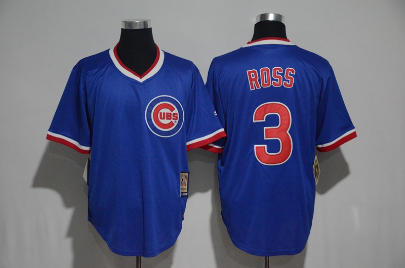 2017 MLB Chicago Cubs 3 Ross Blue Throwback Jersey