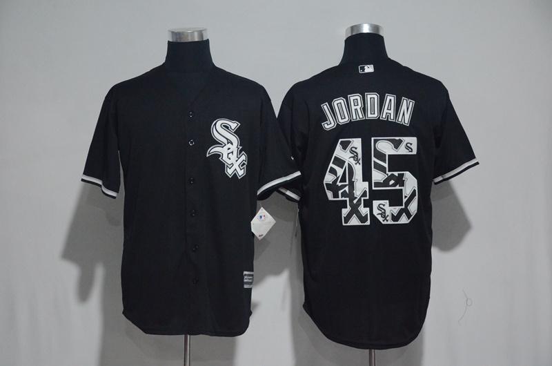 2017 MLB Chicago White Sox 45 Jordan Black Fashion Edition Jerseys