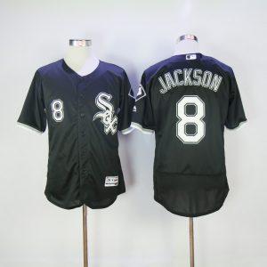 2017 MLB Chicago White Sox 8 Jackson Black Elite Jerseys