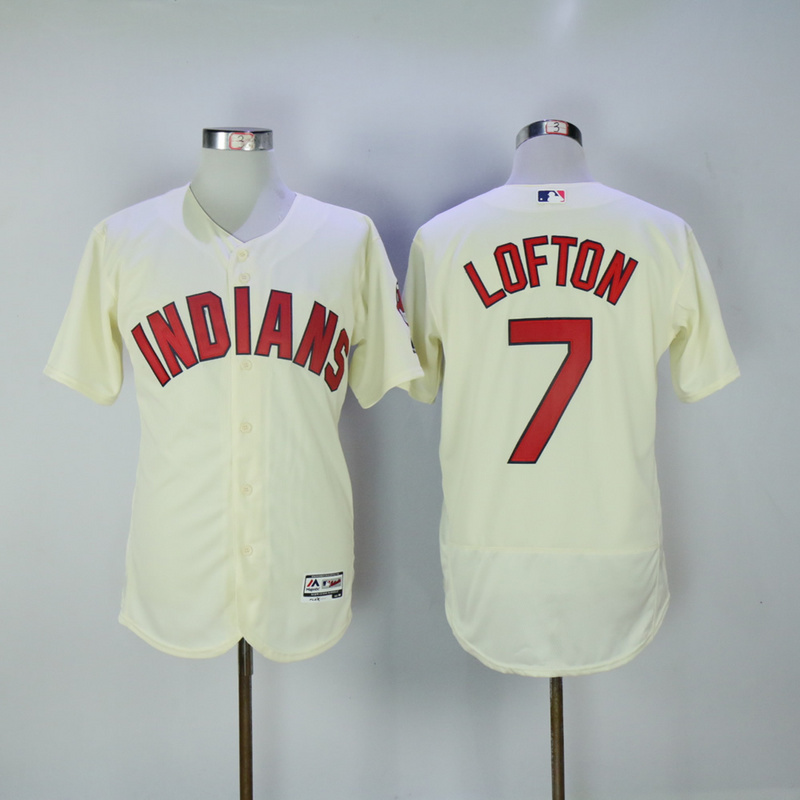 2017 MLB Cleveland Indians 7 Lofton Gream Elite Jerseys