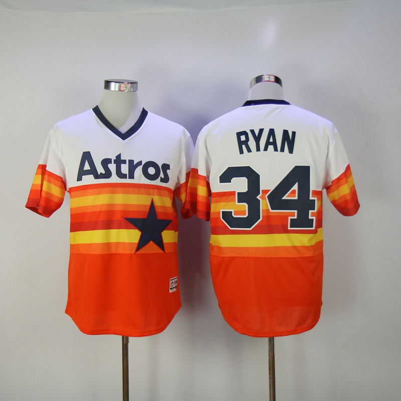 2017 MLB Houston Astros 34 Ryan Orange Elite Jerseys