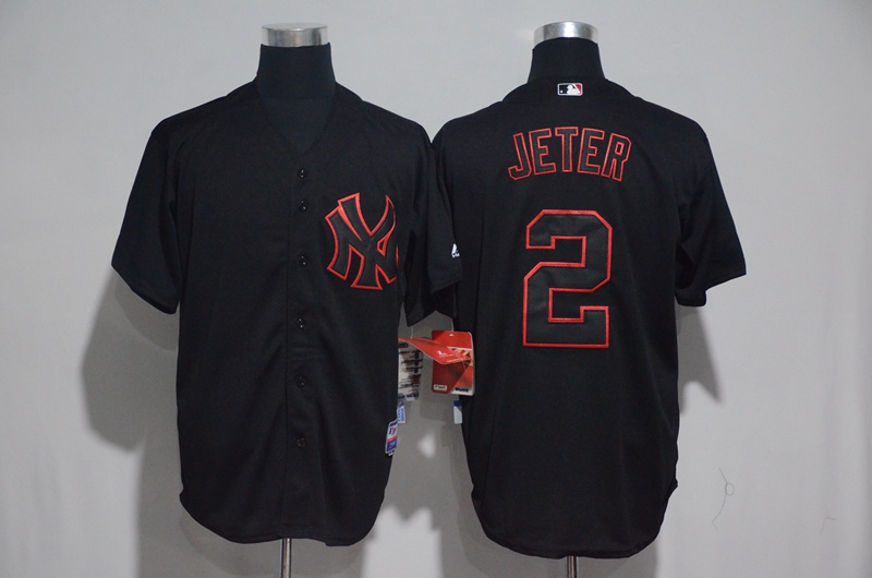2017 MLB New York Yankees 2 Jeter Black Classic Jerseys