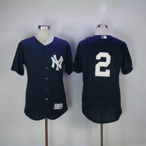 2017 MLB New York Yankees 2 Jeter Blue Elite Jerseys