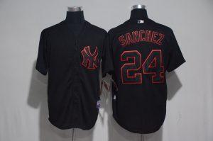 2017 MLB New York Yankees 24 Sanchez Black Classic Jerseys