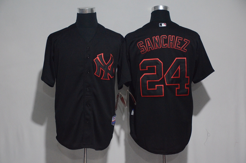 2017 MLB New York Yankees 24 Sanchez Black Classic Jerseys