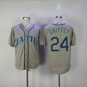 2017 MLB Seattle Mariners 24 Griffey Grey Game Jerseys