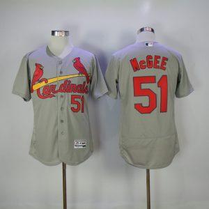 2017 MLB St. Louis Cardinals 51 Mcgee Grey Elite Jerseys