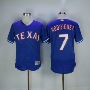 2017 MLB Texas Rangers 7 Rodriguez Blue Elite Jerseys