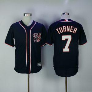 2017 MLB Washington Nationals 7 Turner Blue Game Jerseys
